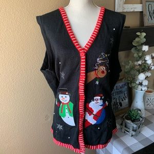 Jackets & Blazers - Woman's Plus Ugly Christmas Sweater Vest 3X